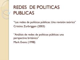 REDES DE POLITICAS PUBLICAS - Negociación y Proceso de
