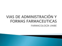Vías de Administración - VII Cuatrimestre Medicina