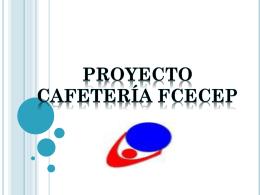 Proyecto cafetería cecep