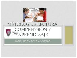 Métodos de lectura, comprensión y aprendizaje