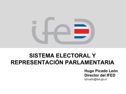 Hugo Picado León, Director, Instituto de Formación y Estudios en