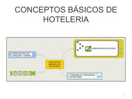 CONCEPTOS BÁSICOS DE HOTELERIA