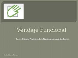 Vendaje Funcional - Colegio de Fisioterapeutas de Andalucía