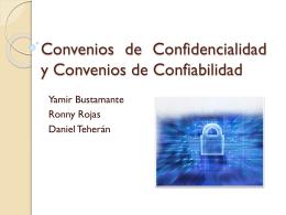 Contrato de Confiabilidad y confidencialidad