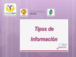 tipos de información - Secretaría de Salud