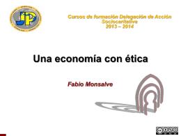 Una Economía con Ética