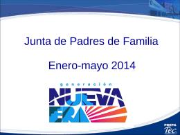 Junta de Padres 2 semestre Enero 2014