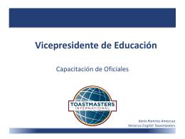 Vicepresidente de Educación
