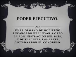 PODER EJECUTIVO - UAIDerechoAdministrativo