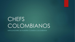 CHEFS COLOMBIANOS