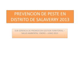 INDICADORES DE PESTE DE LA REGION LA LIBERTAD