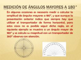 Medición de ángulos mayores A 180°