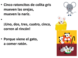 1 cinco ratoncitos