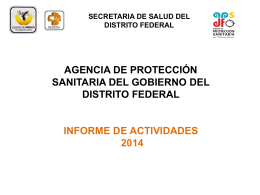 agencia de proteccion sanitaria del gobierno del distrito federal