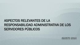 la responsabilidad administrativa de los servidores públicos