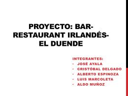 Proyecto: bar-restaurant irlandés - U