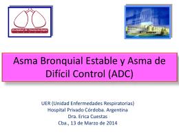 Asma Bronquial Estable - Sociedad de Neumonología de Córdoba