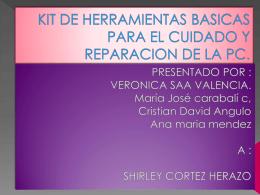 kit de herramientas basicas para el cuidado y reparacion de la pc.