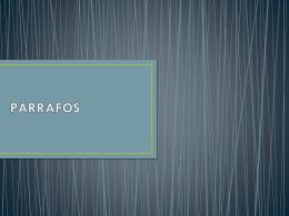 PÁRRAFOS - walcero