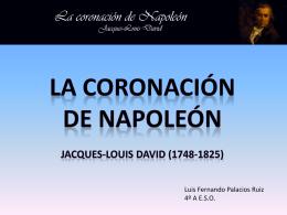 La coronación de Napoleón Jacques-Louis