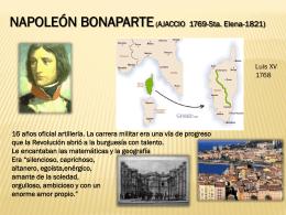 NAPOLEÓN BONAPARTE (AJACCIO 1769-Sta