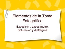 Elementos de la Toma Fotográfica