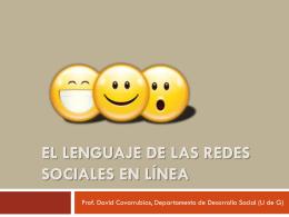 El lenguaje de las redes sociales en línea