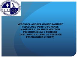 VERÓNICA ANDREA GÓMEZ RAMÍREZ PSICÓLOGO PERITO