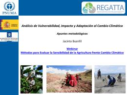 Evaluación de Vulnerabilidad e Impacto a Cambio Climático