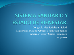 SISTEMA SANITARIO Y ESTADO DE BIENESTAR