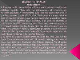 Lecciones Finales - Claudia Alvarado