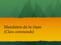 Mandatos de la clase (Class commands)