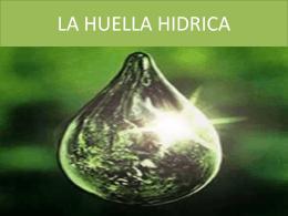 LA HUELLA HIDRICA