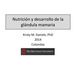 Nutrición y el Desarrollo de la glándula mamaria.