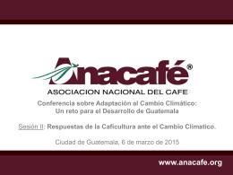Caso del sector cafetalero. Mariela Meléndez, ANACAFE