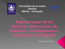 Derechos Intelectuales de Profesores, Investigadores