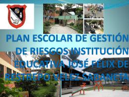 PLAN DE PREVENCIÓN INSTITUCIÓN EDUCATIVA JOSÉ FÉLIX