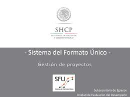 4. registro de proyectos - Secretaría de Finanzas y Administración