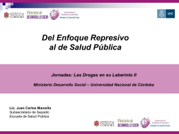 Diapositiva 1 - Escuela de Salud Pública