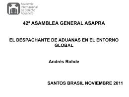 presentación asamblea brasil 2011: andrés rohde