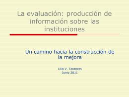 La evaluación y la producción de información sobre las instituciones