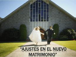 Ajustes en el nuevo matrimonio