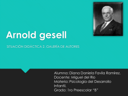 Arnold gesell - WordPress.com