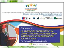 arnold-encomendero - congreso internacional de cooperativas