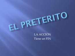 EL PRETERITO overview
