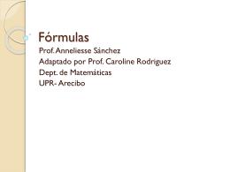 Fórmulas - Mate 0008 – UPRA