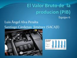 El Valor Bruto de la producion (PIB)