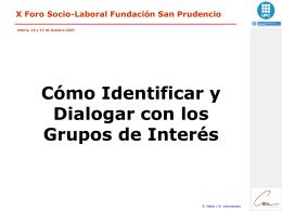 Identificar y dialogar con los grupos de interés