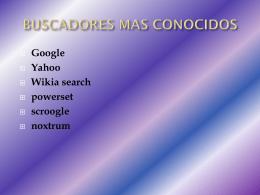 BUSCADORES MAS CONOCIDOS.