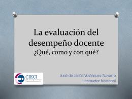 La evaluación del desempeño docente ¿Qué, como y con qué?